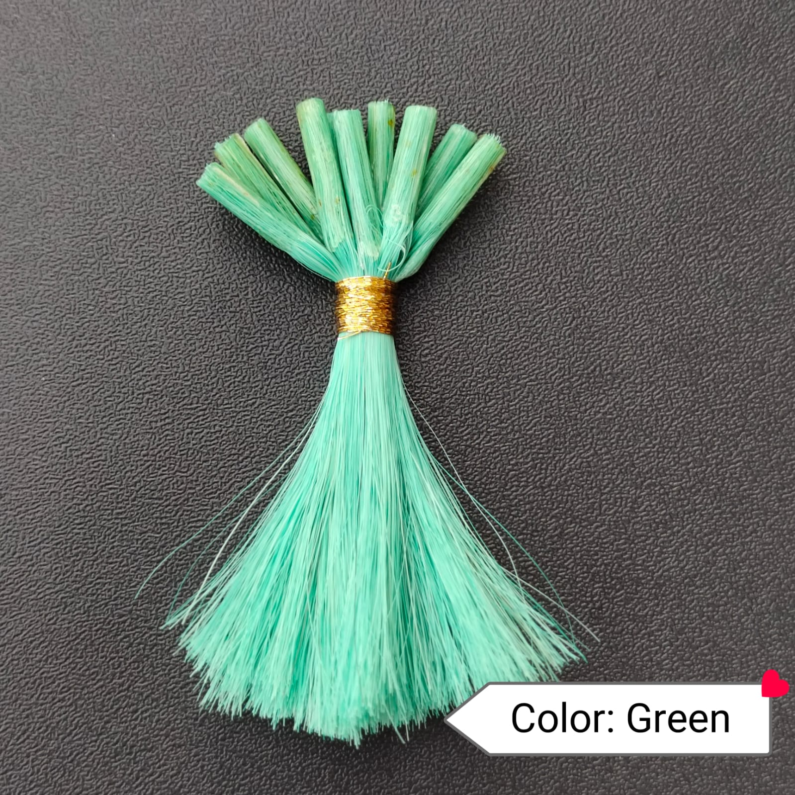 Color Green Human Hair Extensions