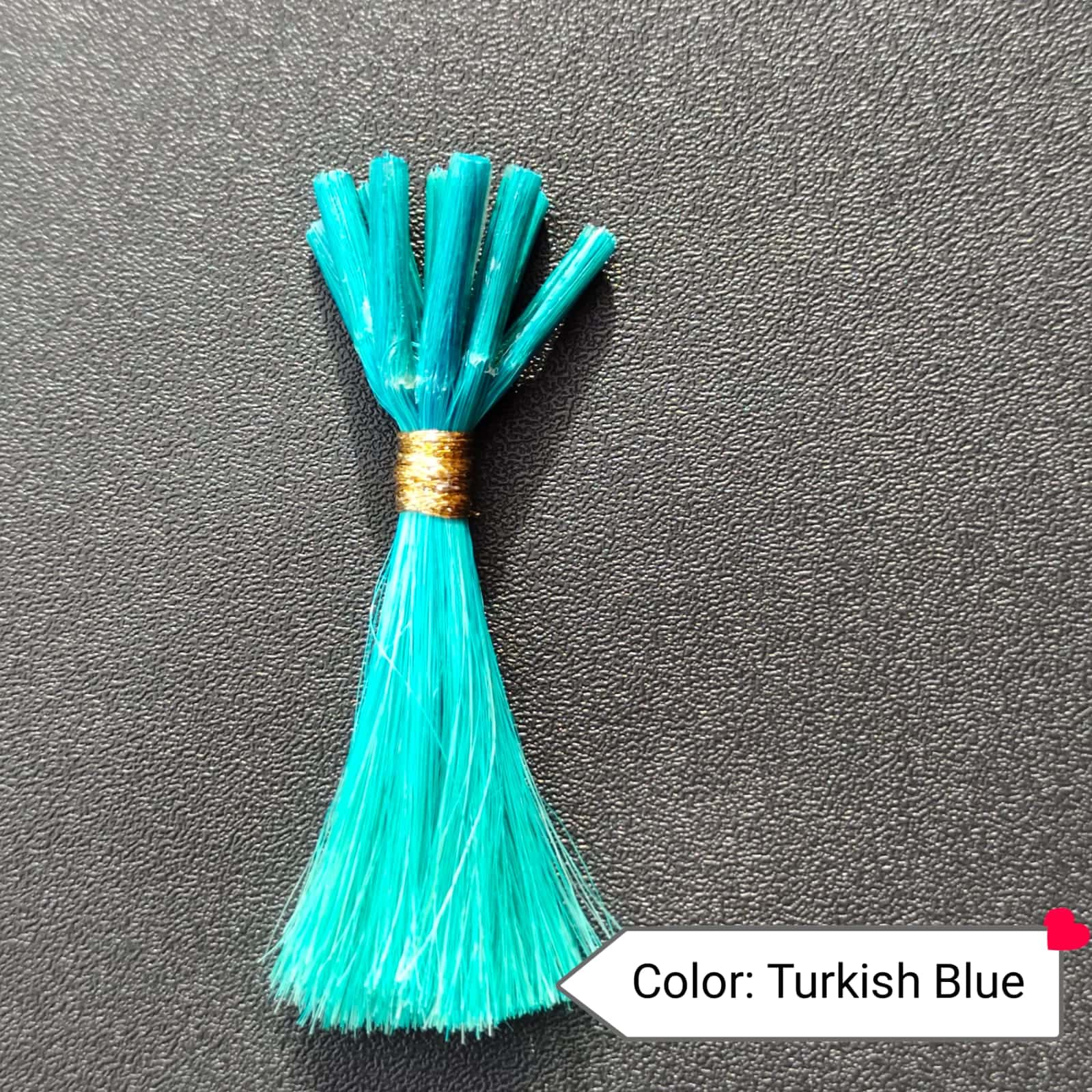 Color Turkish Blue Human Hair Extensions