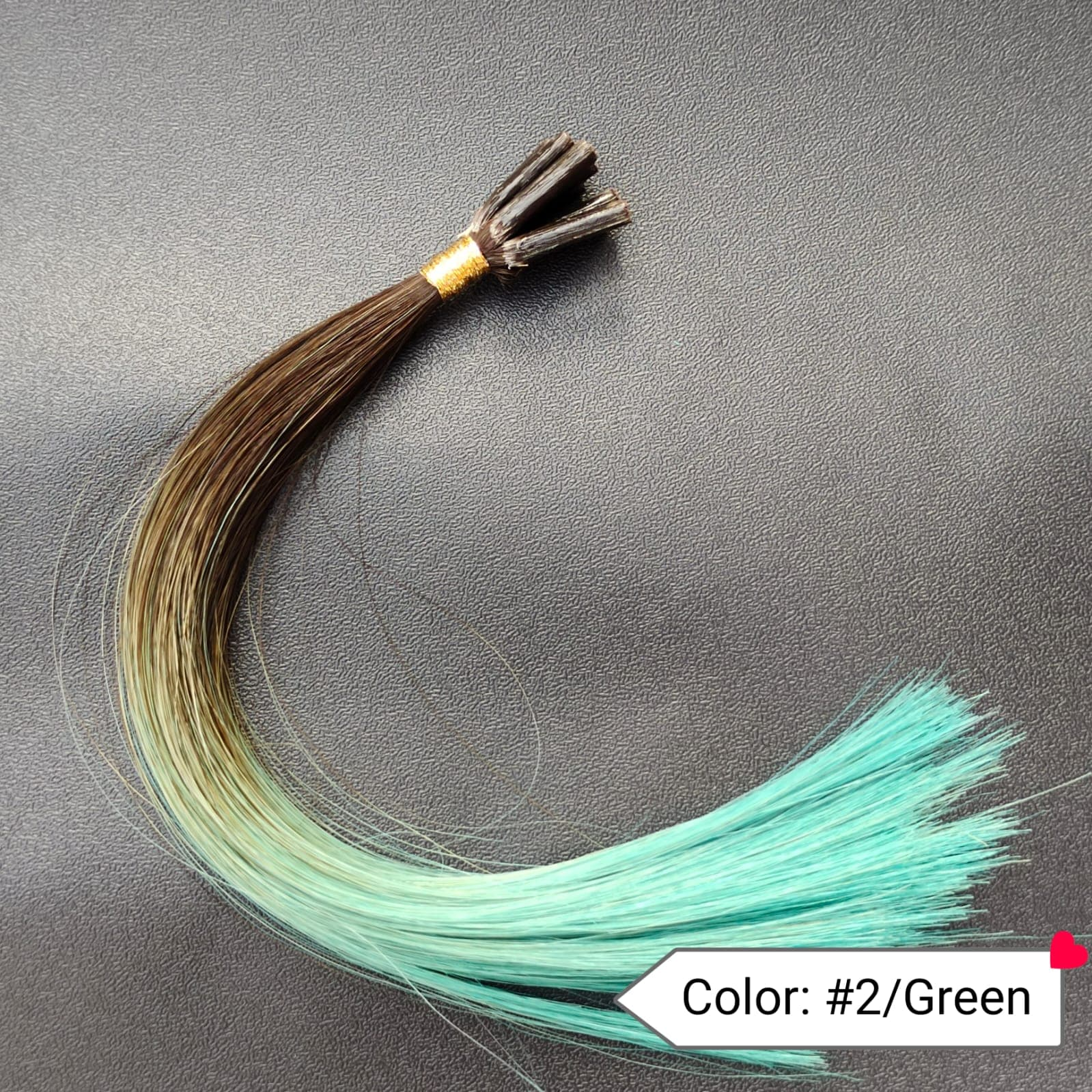 Color no. 2 by Green Human Hair Extensions