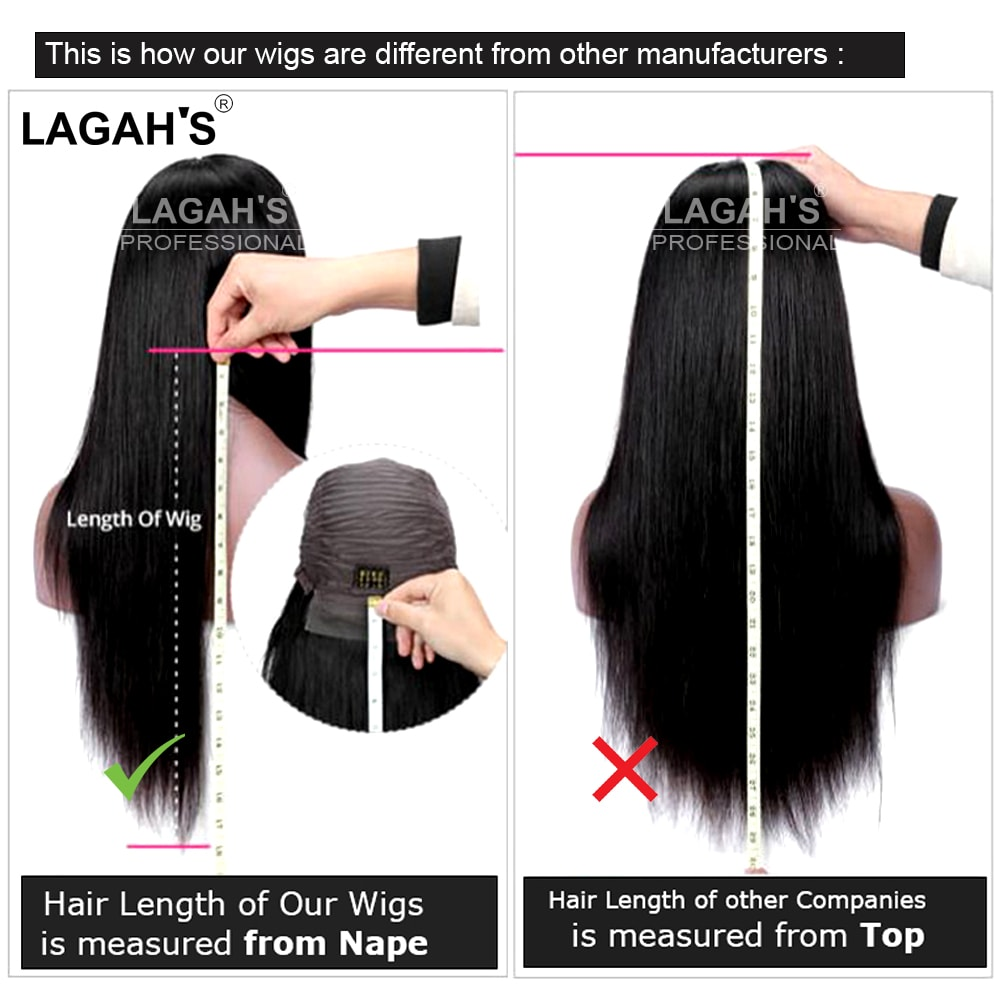 How to measure hair length of wigs