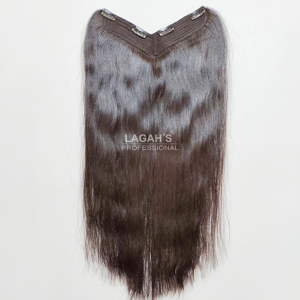 V Shape Hair Volumizer human hair extensions with clips attached