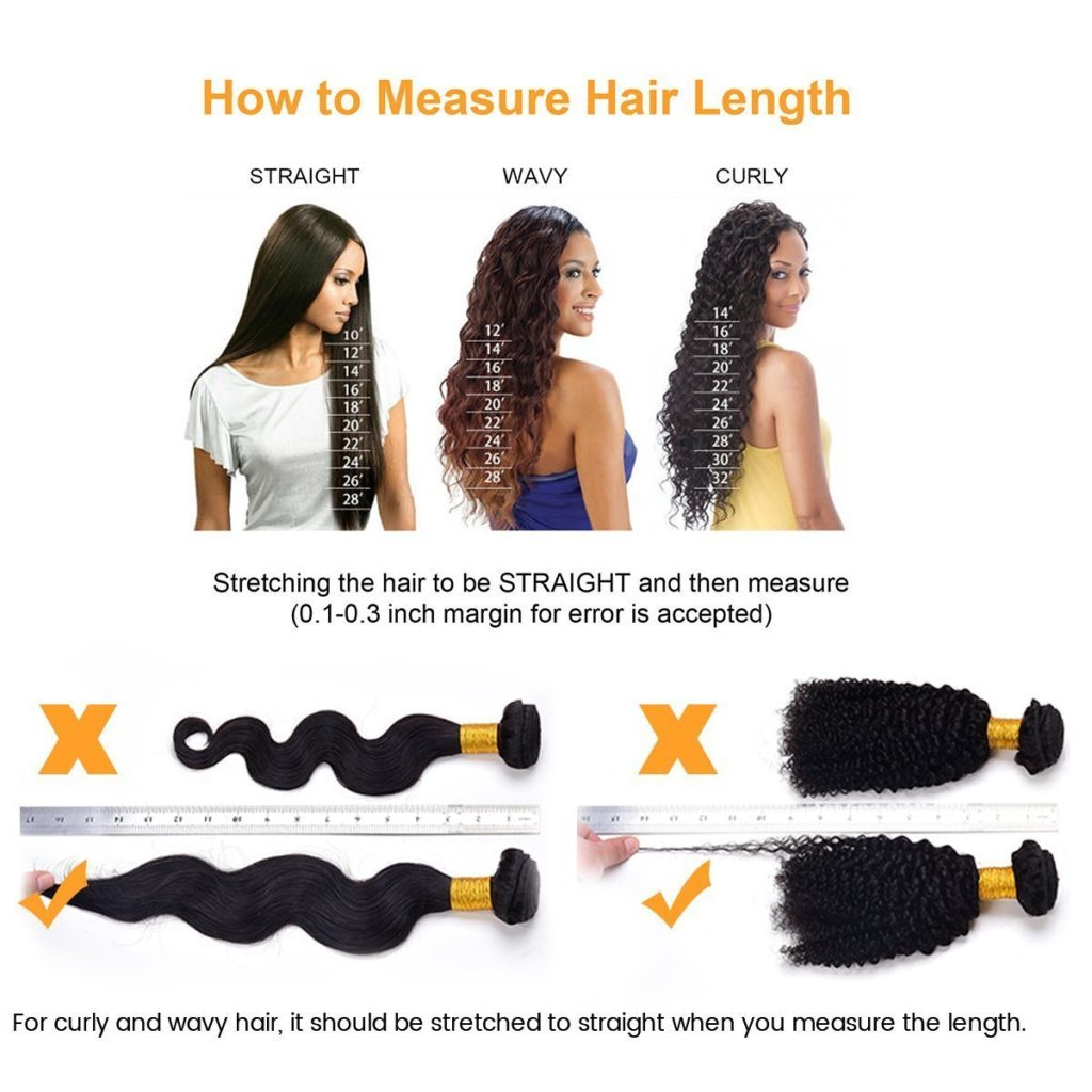 How to measure hair length of human hair extensions