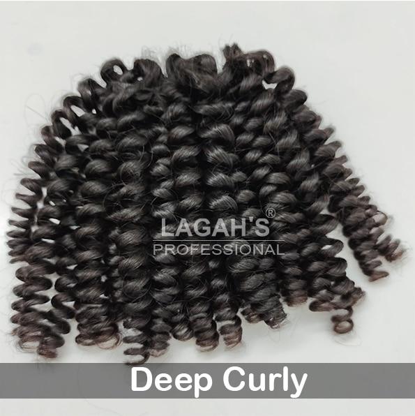 Deep Curly Human Hair Texture